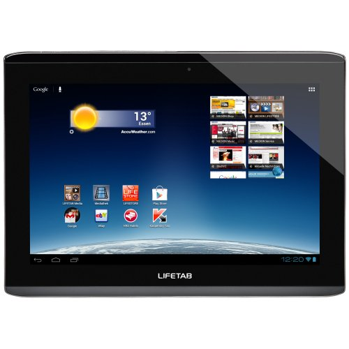 Medion Lifetab S9714 25,4 cm (10 Zoll) Tablet-PC (NVIDIA Tegra 3, 1,2GHz, 1GB RAM, 32GB interner Speicher, Android 4.0) schwarz