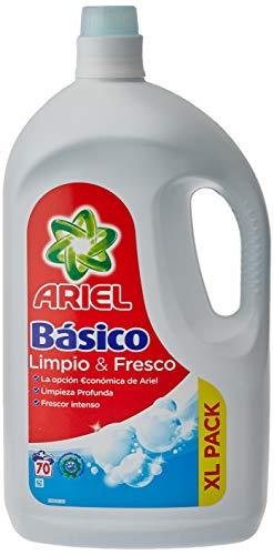 Ariel Detergente Líquido para Lavadora, Básico, 3.8 L, 70