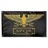 Eriesy Fahne/Flagge SPQR Family Flag Garden Flag Party Flag 100% Polyester Fiber Indoor Flag