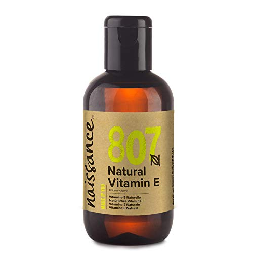 Naissance Vitamin E Oil (no.807) 100ml - Natural, Vegan, Cruelty Free, Hexane Free, No GMO