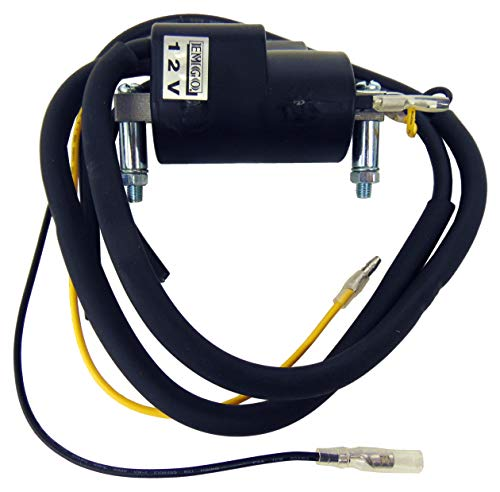 Dual Lead Wire 12 volt Ignition Coil Compatible with Honda CA77 Dream Touring 305 CB175 90mm
