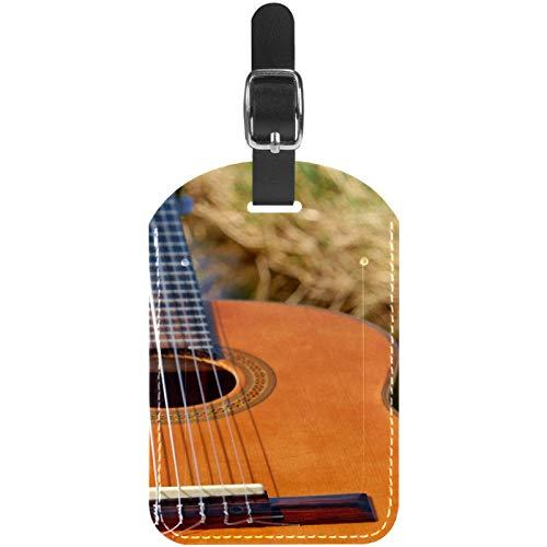 Gepäckanhänger für Gitarren, Saiteninstrument, Leder, Reisekoffer, 1 Packung