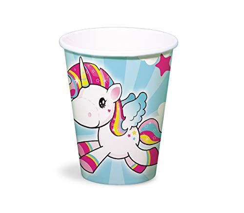 Generique Licorne en plastique pour enfant 250 ml - Lot de 8