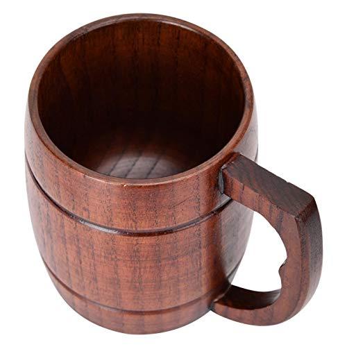 Taza de cerveza de madera, taza de cerveza de madera pura natural hecha a mano para hombres, mujeres, taza de camping, tazas de cerveza de viaje de madera, taza de jarra de regalo, taza para exteriore