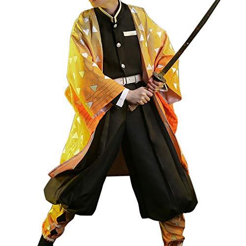 Zhuchao Adulto Tanjirou / Nezuko / Zenitsu / Giyuu / Shinobu Disfraz de Cosplay Juego de Roles Traje Kisatsutai Uniforme Conjunto Anime Kimono Traje para Hombres y Mujeres