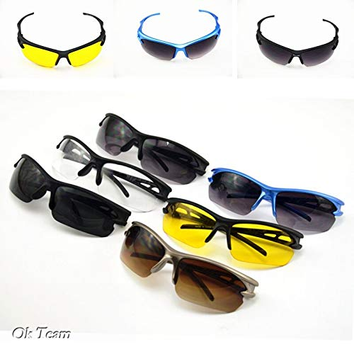 Moto Glasses Eye Wear Men Women Cycling Glasses Summer Style Outdoor Sport Glasses Eyewear Motorcycle (Black)