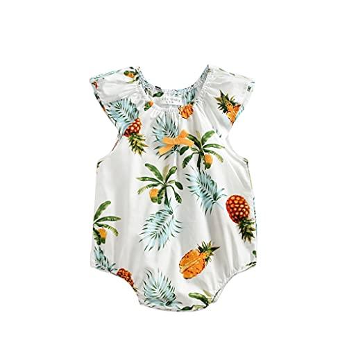 Ropa Bebé Niña Niño Verano flores Impreso Manga Corta Bodies Peleles Bebé Mono Body Infantil para bebés para Recien Nacido Niña Niño 0-24 Meses