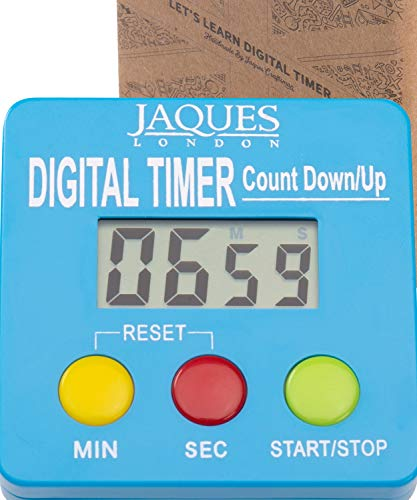 Jaques of London Juguetes niña 2 años Cronómetro Digital para niños - Reloj de Aprendizaje Premium con Temporizador de Cuenta atrás Juguetes educativos 3 4 5 6 años