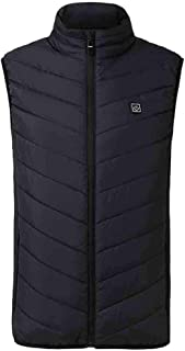 Men's Heated Vest Clearance,Realdo Mens Coat Padded Cotton USB Charge adjustable Warm Thick Tops Jacket