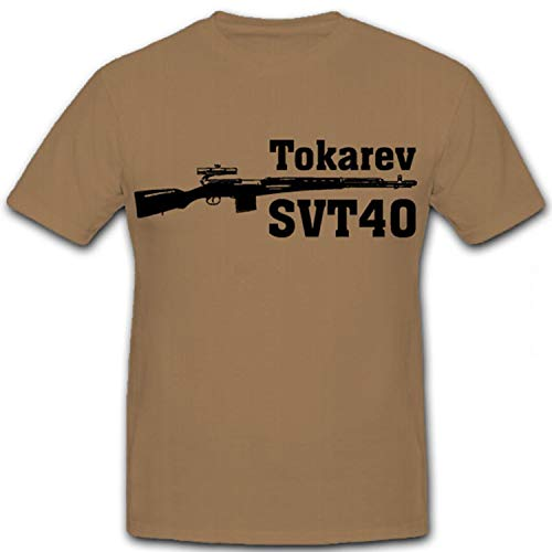Tokarev svt40Tokarev CBT 40Rifle Rusia 40Ejército SWT Rojos unión soviética Caza Rifle–Camiseta # 12413 Arena XX-Large