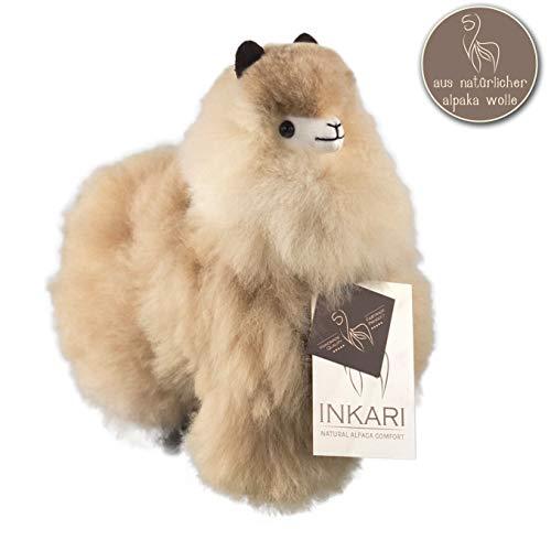 Alpaka Stofftier, super Flauschiges Kuscheltier aus echter Alpaka-Wolle, handgefertigte Unikate, fair und nachhaltig produziert, großes Plüschtier,...
