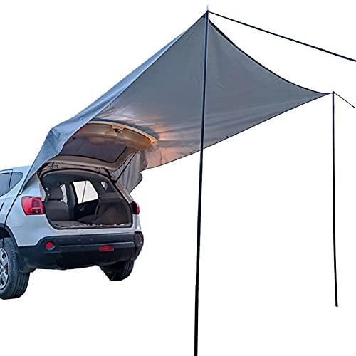 Lancer Autozelt Bus Vorzelt Autozelt Sonnendach Für Campingbus, Markise Sonnensegel Wasserdicht, Heckklappe Zelte Für Auto, Für Camping Und Familie, Sommer Camping Zelt Schatten Zelt Auto Zelt
