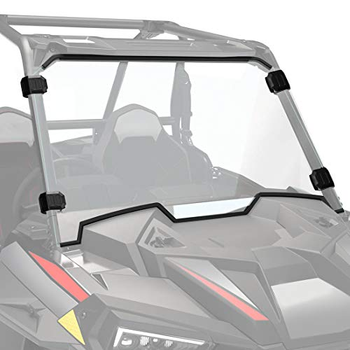 RZR XP 1000 Full Windshield, KEMIMOTO UTV Front Full Windscreen Compatible with 2019-2021 Polaris RZR XP 1000/4 1000 with 4 Black Clamps