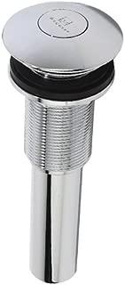 DECOLAV 9298-CP Decorative Push Button Umbrella Drain without Overflow, Polished Chrome