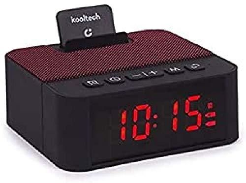 Kooltech 014293 Altavoz Radio, Despertador, Bluetooth, Rojo, SP442