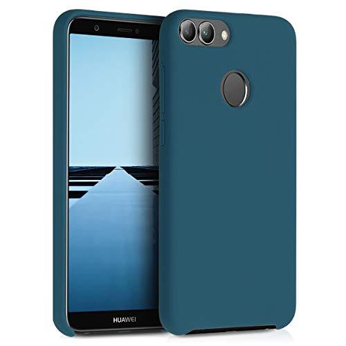 kwmobile Huawei Enjoy 7S / P Smart (2017) Hülle - Handyhülle für Huawei Enjoy 7S / P Smart (2017) - Handy Case in Petrol matt