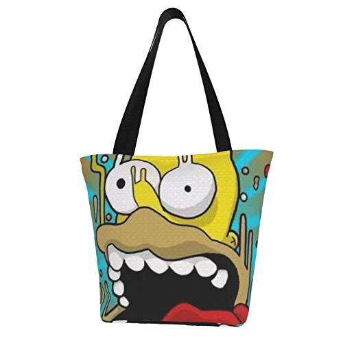 Simpson Totes Bolsa de transporte - Bolso de hombro para mujer de gran capacidad, bolsa de compras de lona, bolsos casuales para la compra, correa portátil es fuerte y duradera