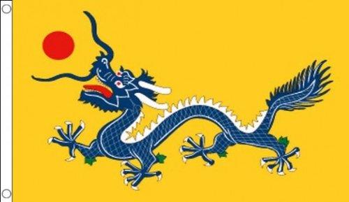 5 ft x 3 ft 150 x 90 cm-Dragon Chinois en Chine - 100% Polyester-matière Drapeau Banniere Idéal pour bar Club Business School Décoration de Fête