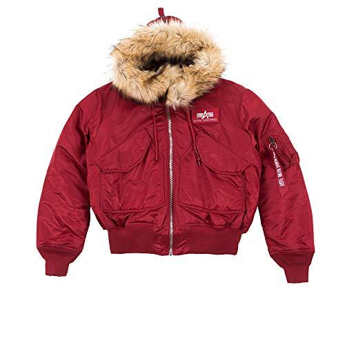 ALPHA INDUSTRIES Herren 45P Hooded Custom Jacke, Commander Red, L