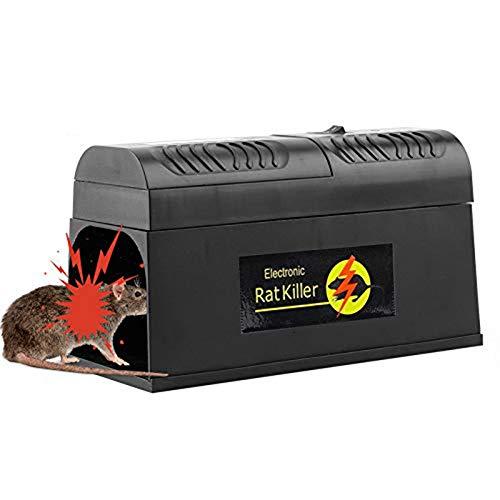 Elektronische Rattenfalle, elektrischer Mäusekiller Professional Mausefalle, für Mäuse Kastenfalle für Garten Haus EU Plug (1 Pack)
