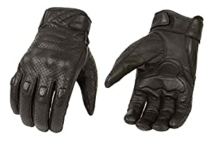 Milwaukee Leather Men's Leather Perforated Cruiser Gloves