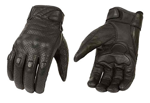 Milwaukee Leather Men's Premium Leather Perforated Cruiser Gloves...