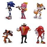 EASTVAPS 6PCS Anime Sonic The Hedgedog Figure Doll PVC Decoration...