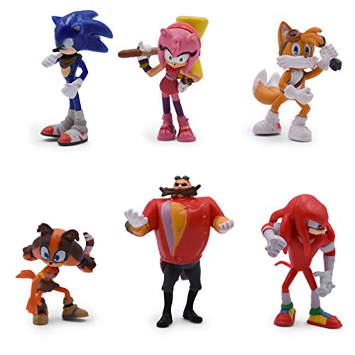 EASTVAPS 6PCS Anime Sonic The Hedgedog Figure Doll PVC Decoration