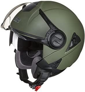 Studds Downtown Half Helmet (Military Green, M)