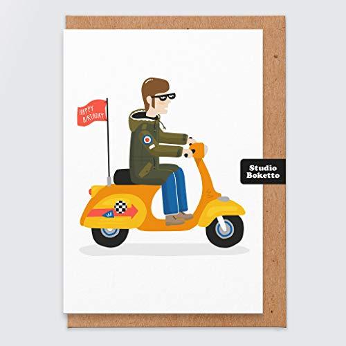 Carta de cumpleaños - Divertido - Carta de felicitación - novio - novia - esposo - esposa - comedia - Hermano - Hermana - amigo - feliz cumpleaños - quadrophenia - mods - scooter - moto