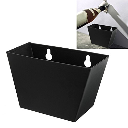 Black Wall Mount bier fles opener cap vanger doos met schroeven