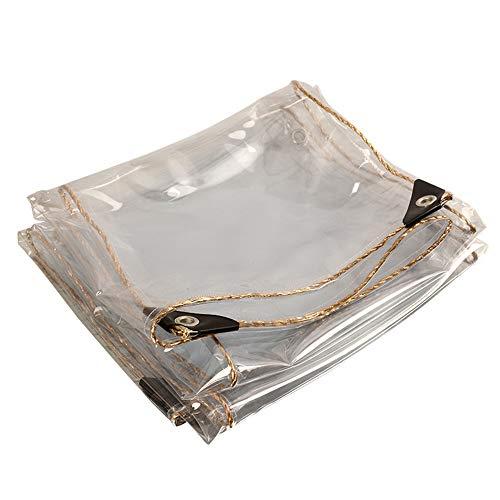 Lona transparente impermeable de PVC con ojales, resistente al polvo, impermeable, gruesa, irrompible y cortavientos, lona para invernaderos de jardín (tamaño: 5 x 10 m)