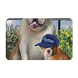 Dog Wins - Alfombrilla antideslizante para puerta de béisbol para dormitorio, cocina, entrada y baño de 19,5 x 31,5 pulgadas