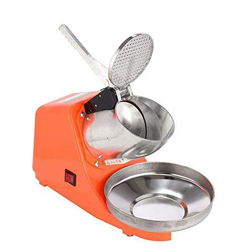 smzzz Tragbare und leichte300W elektrische Eisrasiermaschine Rasierte Eismaschine Eisschneekonushersteller für den privaten und gewerblichen Gebrauch Orange