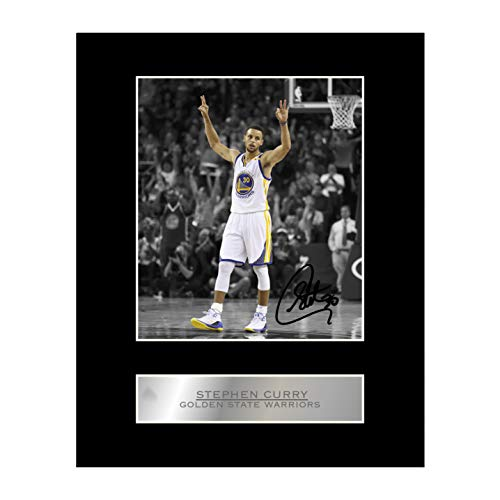 Stephen Curry firmada foto enmarcada Golden State Warriors