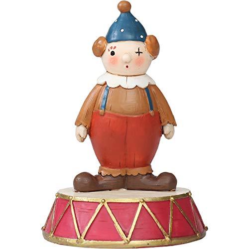 ZGPTX - Escultura para figuras de decoración artística de decoración de estatuas coleccionables para el hogar, diseño vintage de dibujos animados acrobáticos circo