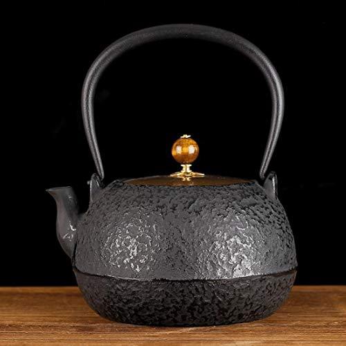 Tea Pot, Retro Cast Iron Tea Kettle, Small Handmade Easy Pour Japanese Tea Maker for Tea House Office Home, 1.3L
