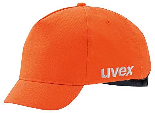 Uvex U-Cap Sport Hi-Viz pet - korte klep - warm oranje - 60-63 cm Pet met klep. 55-59 cm Lichtoranje