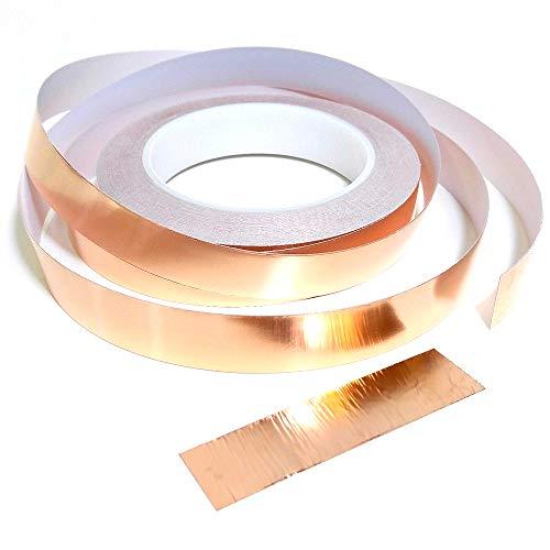 Gaosheng 25 m Cinta de babosas de cobre: cinta adhesiva de barrera de caracol de babosas de cobre