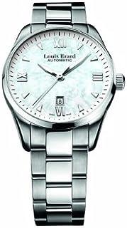 Louis Erard - 20100AA04.BMA17 - Reloj analógico automático para Mujer con Correa de Acero Inoxidable, Color Plateado