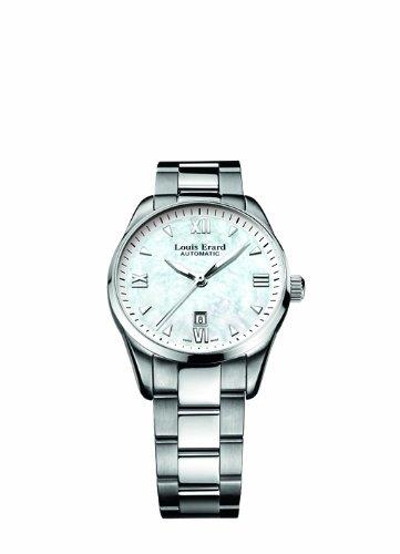 Louis Erard 20100AA04.BMA17 - Reloj analógico automático para Mujer con Correa de Acero Inoxidable, Color Plateado
