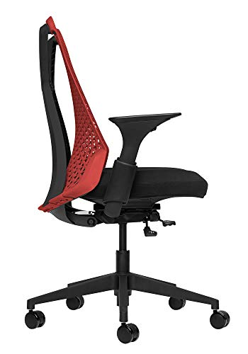 Bowery Fully Adjustable Management Office Chair (Red/Black)