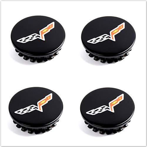 Mulistory CV065BS 4X Gloss Black Wheel Center Hub Caps for Chevrolet Corvette C6 2008-2013 Replacement# 20940125