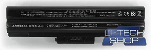 LI-TECH Batteria Compatibile 5200mAh Nero per CODICE Sony VGP-BPS13S Computer Nuova 57Wh