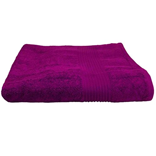 starlabels badhanddoek paars badstof katoen 500g / m2 handdoek 70 x 140 cm