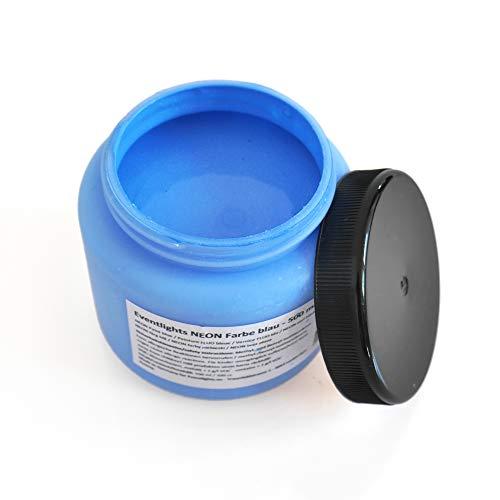 NEON UV Farbe blau - 500 ml - UV Leuchtfarbe - Wandfarbe - Bastelfarbe - Schwarzlicht