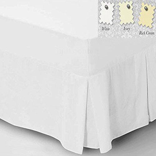 Charlotte Thomas Drap-housse uni en percale pour lit simple Blanc