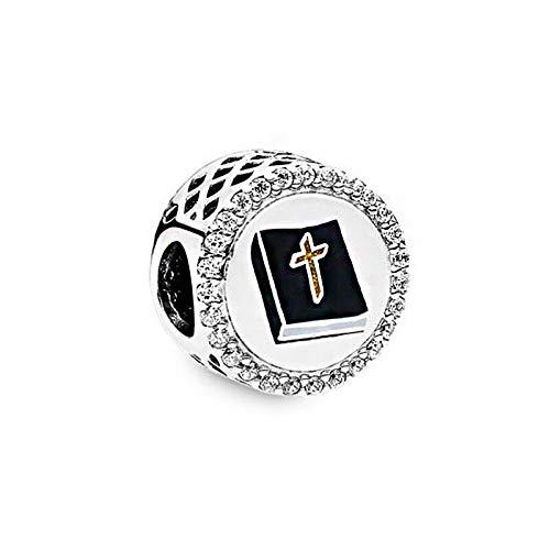 QIAMUCJC Plata 925 Fit Original Pandora Pulseras Plata de Ley Power of Prayer Charms Beads Joyería de Las Mujeres