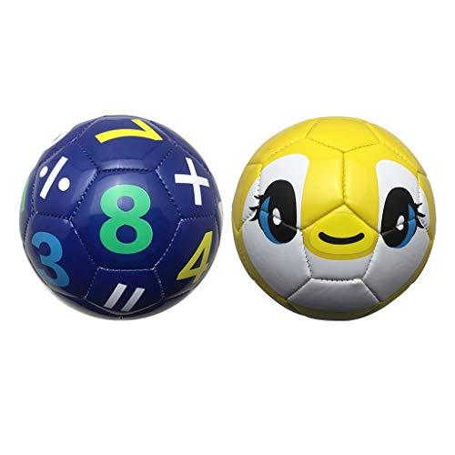 sharprepublic 2X Balón De Fútbol Tamaño 2 Balón De Entrenamiento De Habilidades Juguetes para