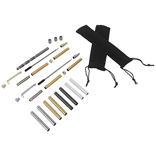 Deluxe Starter Pen Turning Kit Includes Instructions and Parts For Turning Pens (Classic Slim Style Pen)